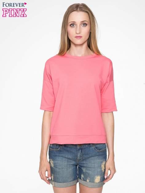 Koralowa bluza z suwakiem z tyłu                                  zdj.                                  1