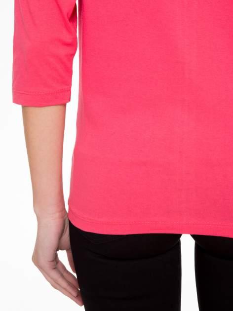 Koralowa bluzka z nadrukiem DREAMS COME TRUE                                  zdj.                                  8