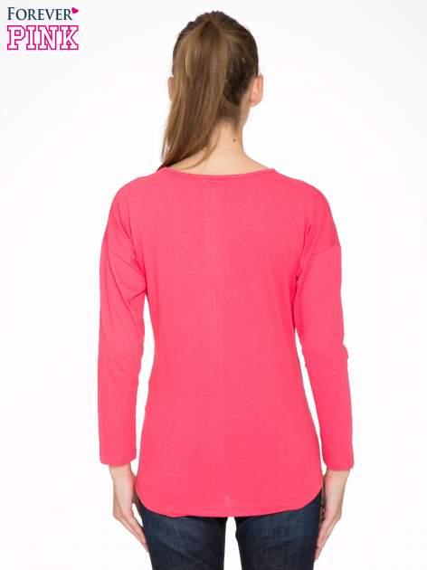 Koralowa bluzka z napisem CRAZY i nadrukiem fashionistek                                  zdj.                                  4