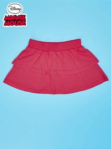 Koralowa spódnica dla dziewczynki z falbanami MINNIE MOUSE                                  zdj.                                  2