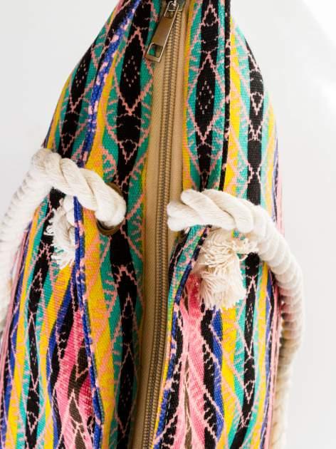 Koralowa torba plażowa w azteckie wzory                                  zdj.                                  7