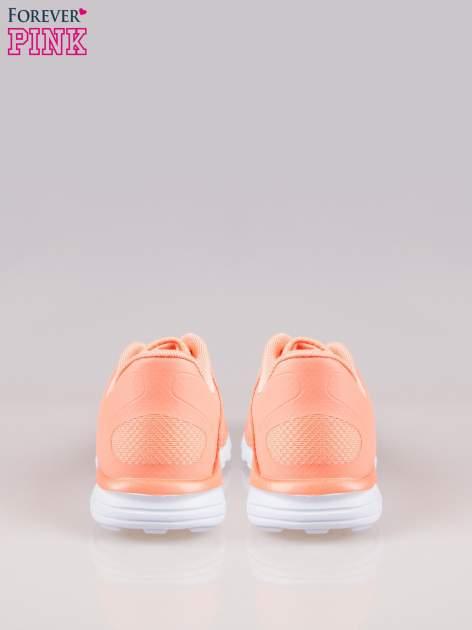 Koralowe buty sportowe eco leather Fruity z podeszwą z rowkami flex                                  zdj.                                  3