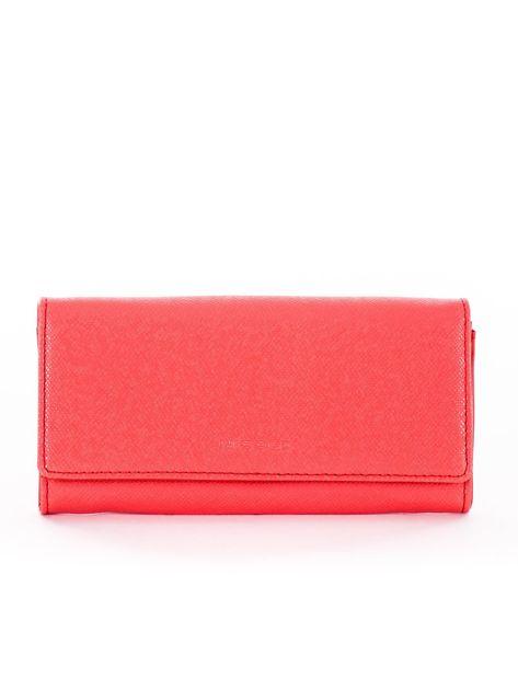 Koralowy damski portfel