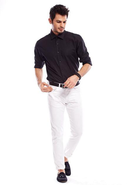 Koszula męska czarna regular fit                              zdj.                              4