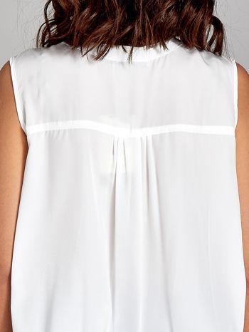 Koszula z kopertowym dekoltem w kolorze ecru                                  zdj.                                  6