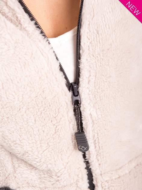 Kremowa polarowa bluza miś z kapturem z uszkami                                  zdj.                                  4
