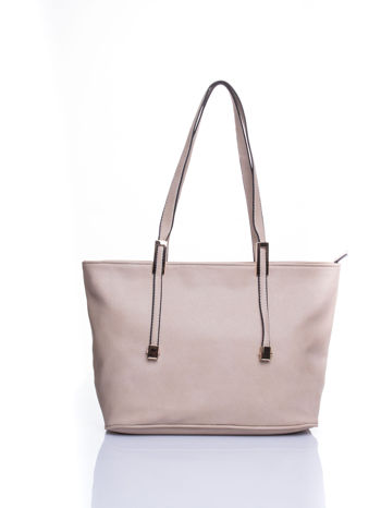 Kremowa prosta torba shopper bag