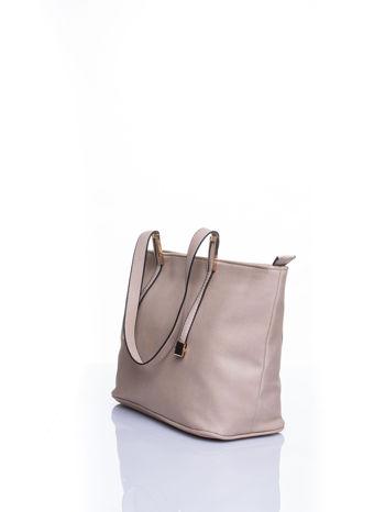 Kremowa prosta torba shopper bag                                  zdj.                                  4