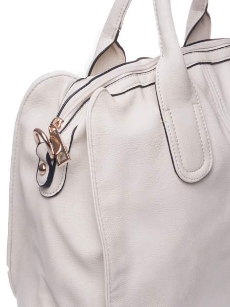 Kremowa torba miejska z odpinanym paskiem                                  zdj.                                  4