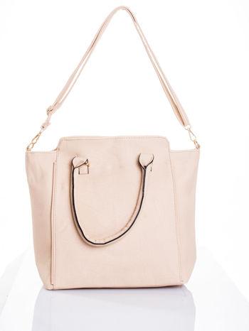 Kremowa torba shopper bag                                  zdj.                                  5