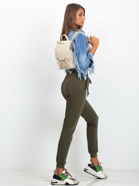 Kremowy plecak z ekoskóry                              zdj.                              4