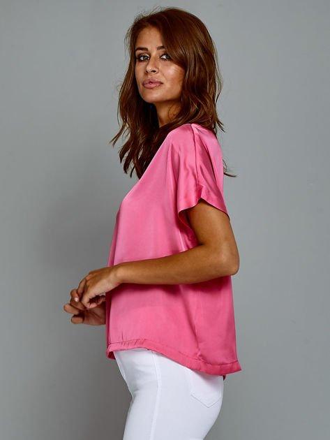 Krótki t-shirt oversize różowy                                  zdj.                                  5