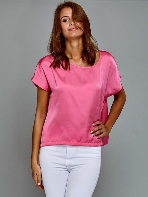 Krótki t-shirt oversize różowy                                  zdj.                                  7