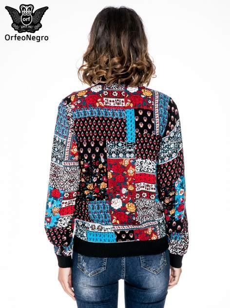 Kurtka bomber jacket w patchworkowe wzory                                  zdj.                                  4