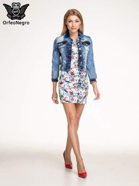 Kwiatowa prosta mini sukienka                                  zdj.                                  2