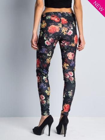 Kwiatowe legginsy elastyczne                                  zdj.                                  5