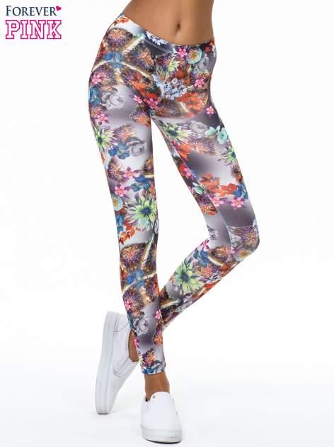 Kwiatowe legginsy z nadrukami                                   zdj.                                  1