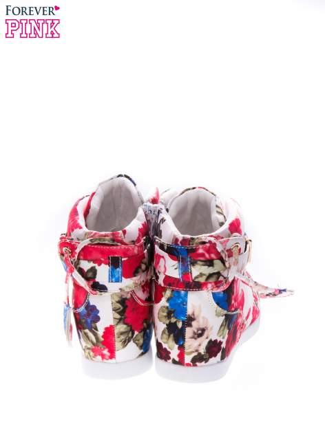 Kwiatowe sneakersy za kostkę                                  zdj.                                  2