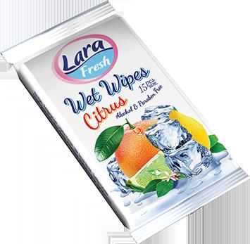 LARA Nawilżane chusteczki o zapachu owocowym 15 szt                              zdj.                              2
