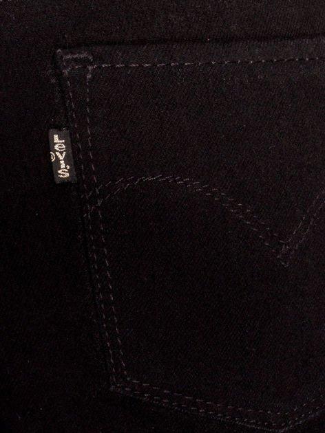 LEVIS Czarne jeansy straight                              zdj.                              3