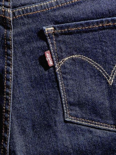 LEVIS Granatowe dopasowane jeansy PLUS SIZE                              zdj.                              4