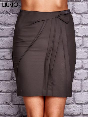 LIU JO Brązowa spódnica z zakładkami                                  zdj.                                  1