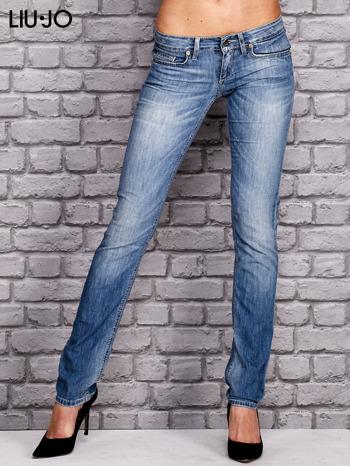 LIU JO Niebieskie spodnie jeansowe marble denim                                  zdj.                                  1