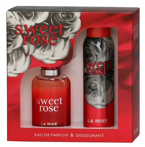 """La Rive La Rive for Woman Sweet Rose Zestaw/edp100ml+deo150ml/"""""""
