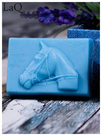 LaQ Mydełko Portret konia - niebieski / Zapach - wata cukrowa BEZ SLS i SLES                                  zdj.                                  1