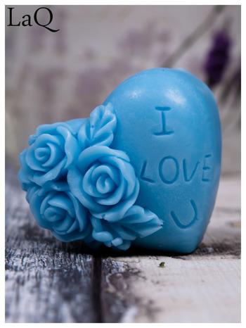 """LaQ Mydełko Serduszko """"I love U"""" - niebieski / Zapach - wata cukrowa BEZ SLS i SLES                                  zdj.                                  2"""