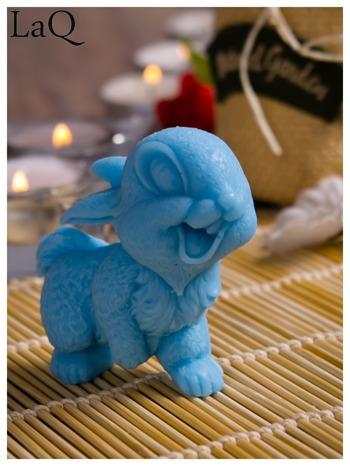 LaQ Mydełko Uśmiechnięty królik - niebieski / Zapach - wata cukrowa BEZ SLS i SLES                                  zdj.                                  4