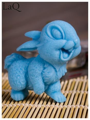 LaQ Mydełko Uśmiechnięty królik - niebieski / Zapach - wata cukrowa BEZ SLS i SLES                                  zdj.                                  2
