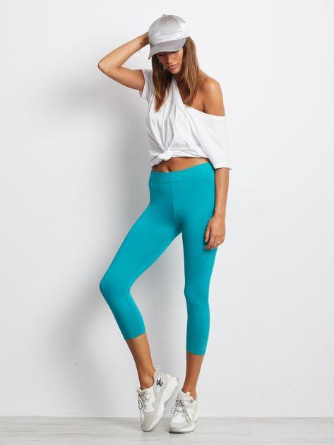Lekko ocieplane legginsy fitness o długości 7/8 ciemnozielone                              zdj.                              4