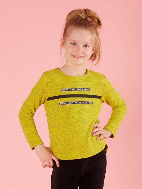 Limonkowa bluzka dla dziewczynki