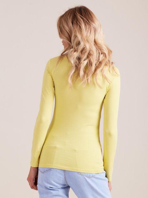 Limonkowa bluzka z długim rękawem                              zdj.                              2