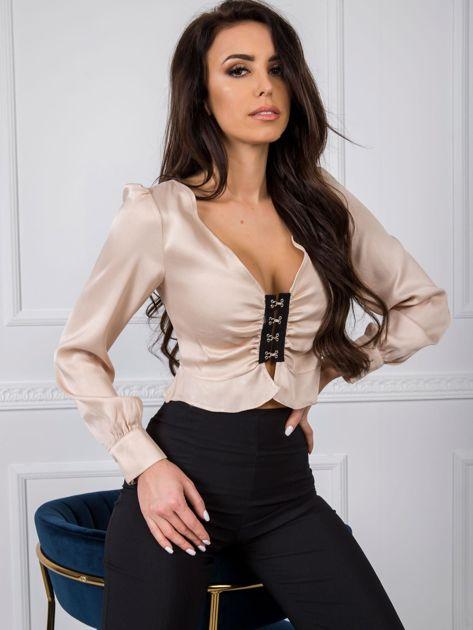 Łososiowa bluzka z wiskozy BSL