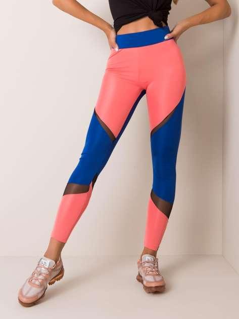 Łososiowo-kobaltowe legginsy Sierra FOR FITNESS