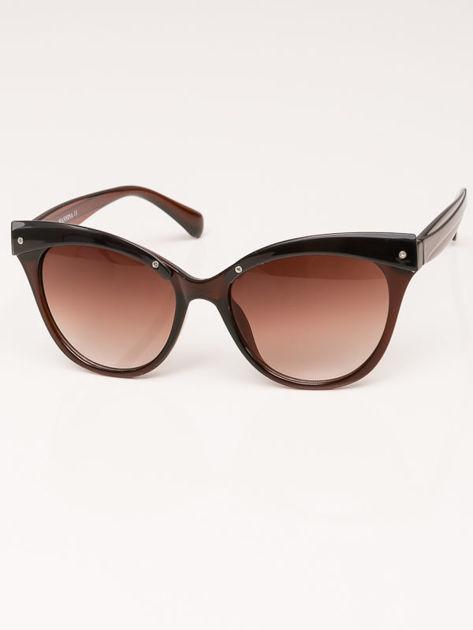 MANINA Okulary przeciwsłoneczne damskie brązowe szkło brązowe dymione                              zdj.                              1