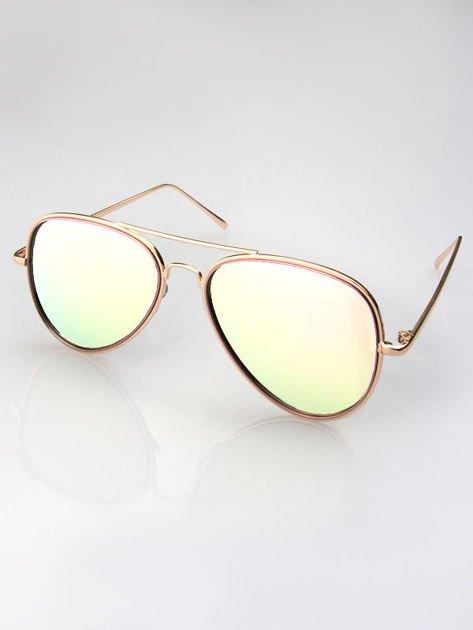 MANNINA Okulary lustrzanki przeciwsłoneczne + miękkie etui gratis                              zdj.                              3