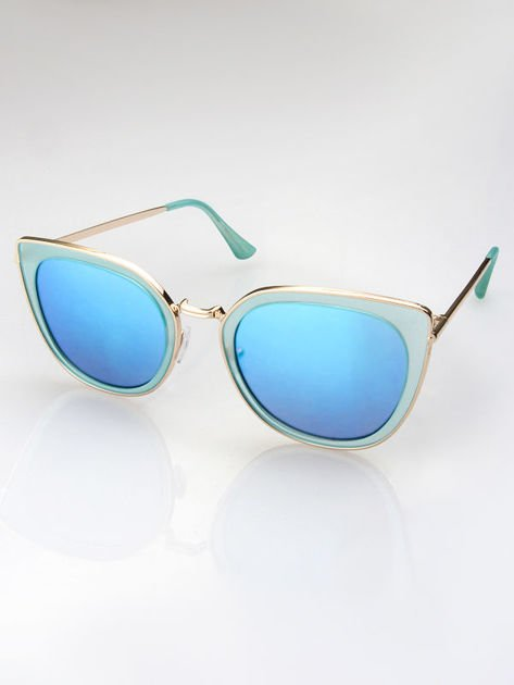 MANNINA Okulary przeciwsłoneczne lustrzanki + miękkie etui gratis                                  zdj.                                  3