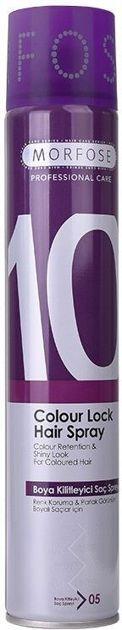 MORFOSE 10 COLOUR LOCK Lakier do włosów farbowanych 400ML