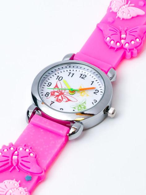 MOTYLE Różowy zegarek dziecięcy