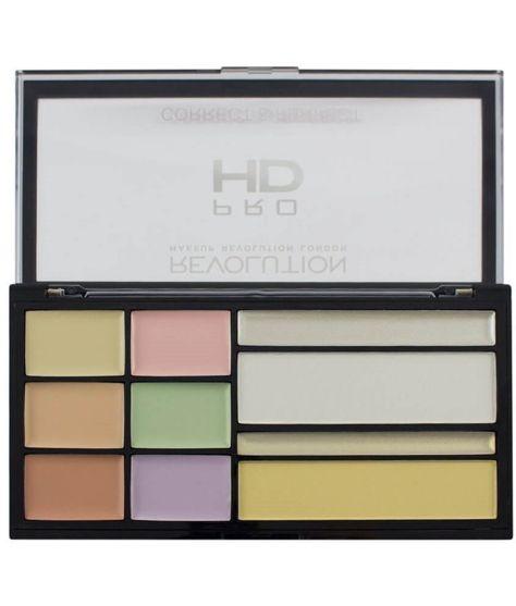 Makeup Revolution Pro HD Palette Zestaw do korygowania niedoskonałości twarzy Correct & Perfect 16,5 g