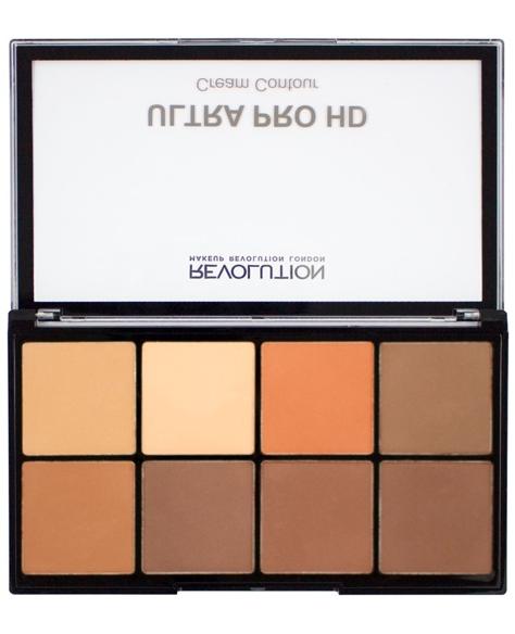 Makeup Revolution Ultra Pro HD Cream Contour Zestaw kremowych pudrów do konturowania Medium-Dark 20g