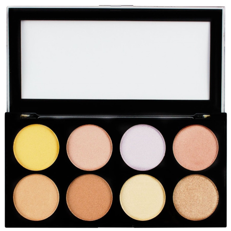 Makeup Revolution Ultra Strobe and Light Palette Paleta 8 rozświetlaczy 15g
