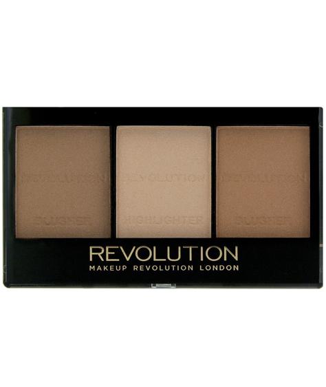 Makeup Revolution Zestaw do konturowania Ultra Sculp & Contour Kit Light - Medium C04 11 g