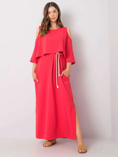 Malinowa sukienka maxi Gilberta RUE PARIS