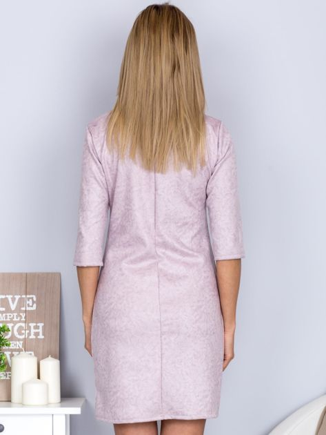 Marmurkowa sukienka jasnoszara                              zdj.                              2