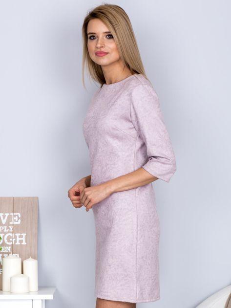 Marmurkowa sukienka jasnoszara                                  zdj.                                  3