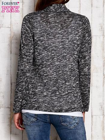 Melanżowy sweter z dłuższymi połami ciemnoszary                                  zdj.                                  4